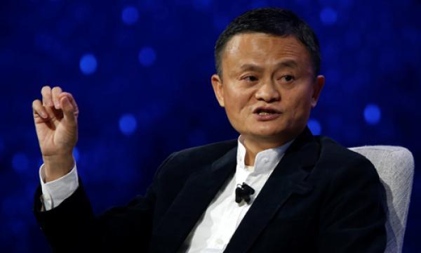 Jack Ma phát biểu tại hội nghị Gateway 17 ở Detroit, bang Michigan, Mỹ ngày 20/6. Ảnh: Reuters.