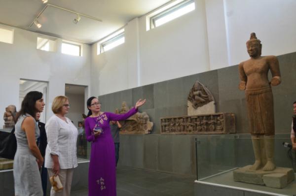 Bảo tàng Chăm cũng là nơi ghé thăm của các phu nhân lãnh đạo APEC đến Đà Nẵng hồi tháng 11.