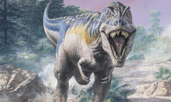 Đồ họa khủng long bạo chúa T. rex. Ảnh: NHMPL