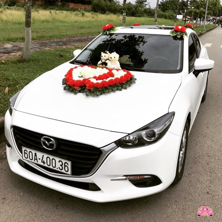 Xe hoa trắng mazda 3 Biên Hoà
